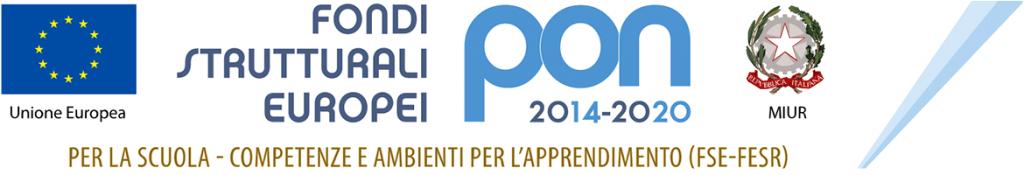 Logo PON 2014-2020 per la scuola - competenze e ambienti per l'apprendimento